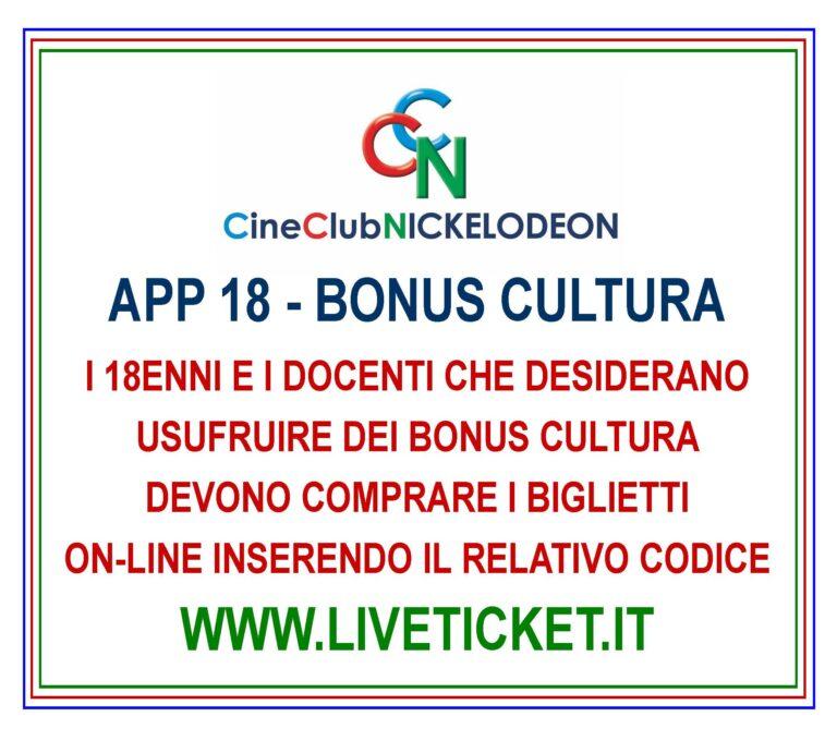 APP 18 - Bonus cultura