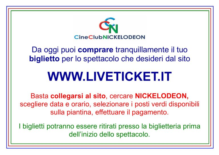 NOVITA' AL CINECLUB NICKELODEON!!